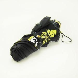 新生活 プレゼント ベル 晴雨兼用 折りたたみ傘 (かさ/日傘) UVブラック ディズニープリンセス (美女と野獣) ディズニー