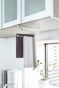 戸棚下キッチンハンガー 吊り下げ式布巾ハンガー キッチン用品 キッチン雑貨