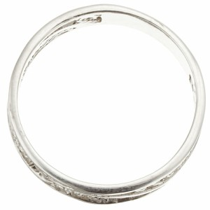 リング 指輪 シルバー925製 スタンダード ピンキー 透かし柄 ボールライン