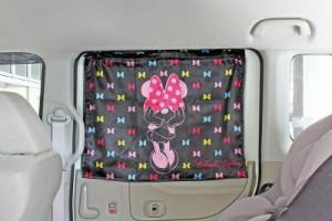車用カーテン おてがるカーテン(ミニー) WN-37 ディズニー カーグッズ 日除け用品 ナポレックス