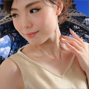 ネックレス レディース ダイヤモンド ネックレス スリーストーン プラチナ 0.5ct Pt900