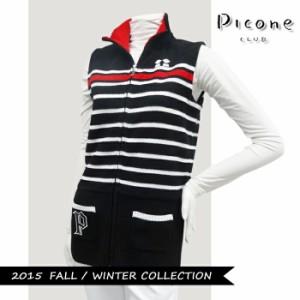 【2015年秋冬モデル】Picone-ピッコーネ- LADYS C518012 (レディース) フルジップニットベスト【