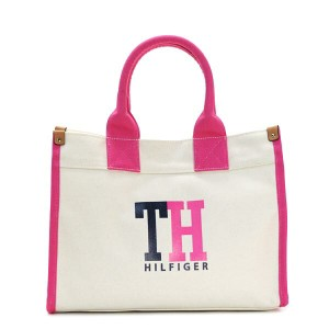 トミーヒルフィガー TOMMY HILFIGER トートバッグ 6929741 MEDIUM TOTE TH HILFIGER GRAPHIC NATURAL/NAVY/PETUNIA PK