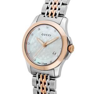グッチ GUCCI Gタイムレス クオーツ レディース 腕時計 YA126539 ホワイトパール【送料無料】
