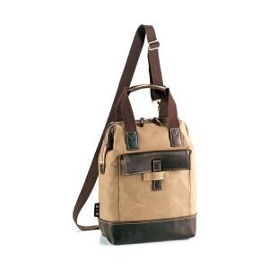 鞄の國 帆布シリーズ メンズ リュック バックパック 4252603 ベージュ 国内正規