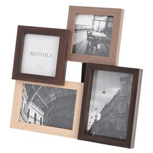 レントラ RENTOLA フォトフレーム 4オープン 写真立て 253533 ナチュラル