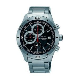 セイコー SEIKO クロノ クオーツ メンズ 腕時計 SSB187P1 ブラック【送料無料】