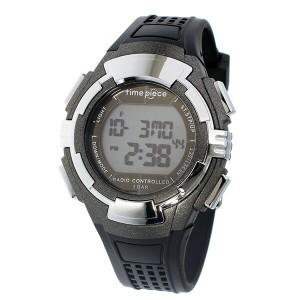タイムピース TIME PIECE 電波ソーラー デジタル メンズ 腕時計 時計 TPW-002GM ガンメタ【楽ギフ_包装】