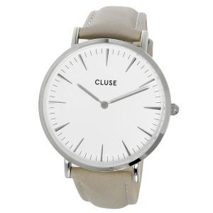 クルース CLUSE ラ・ボエーム レザーベルト 38mm レディース 腕時計 時計 CL18215 ホワイト/グレー【楽ギフ_包装】