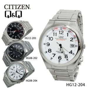 シチズン キューアンドキュー ソーラー 電波 メンズ 腕時計 時計 HG12-204 ホワイト