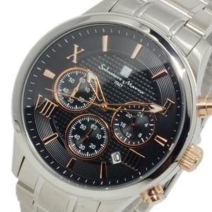 サルバトーレ マーラ クオーツ メンズ クロノ 腕時計 SM15102-SSBKPG ブラック【送料無料】