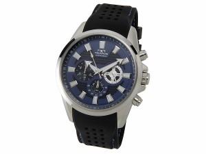 テクノス TECHNOS T6396SN クロノグラフ 24時間計 10気圧防水 ラバーベルト ブルー メンズ 腕時計【送料無料】