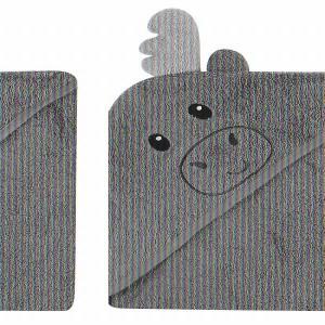 Luvable Friends ラバブルフレンズ アニマルフェイスフード付きバスタオル ムース 1枚【送料無料】