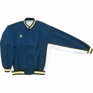 CONVERSE(コンバース) Jr.ウォームアップジャケット(前ボタン・裾フライス仕様) CB44501S ネイビー×ホワイト 140