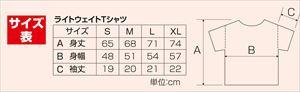ライトウエイトTシャツ M ロイヤルブル- 032 38769