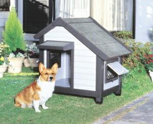アイリスオーヤマ コテージ犬舎 CGR-830 犬舎 グレーCGR-830(代引き不可)