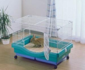 アイリスオーヤマ 小動物快適ケージ RU-800 小動物用品 パステルグリーンRU-800(代引き不可)