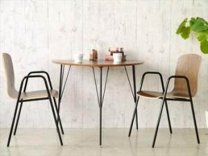 【DT-COLINA】 ダイニングテーブル 三本足 丸形 テーブル 食卓テーブル 丸テーブル 円卓 木製 新生活 北欧 ミッドセンチュリー