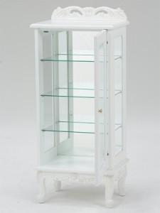 収納 引き出し チェスト ガラスキャビネット RCC-1234AW(代引不可)【送料無料】