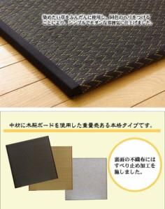 純国産 ユニット畳 『右京』 ブラック 82×82×2.5cm(2枚1セット)【送料無料】【代引き不可】