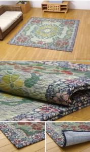 い草ラグカーペット 『DXロザンヌNF』 約191×191cm(裏:不織布)(代引き不可)