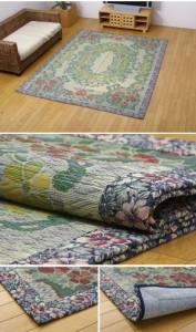 い草ラグカーペット 『DXロザンヌNF』 約191×250cm(裏:不織布)(代引き不可)