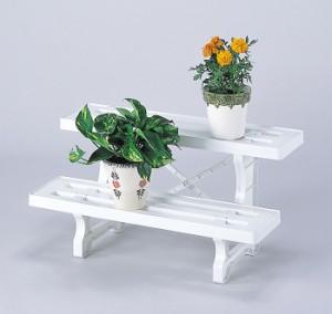 フラワースタンド ヒナ2段 600  2個組 屋内 花瓶台 置き台 飾り台 ベランダ シンプル ガーデニング(代引不可)【送料無料】