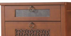 チェスト OW-574 キャビネット 収納棚 ラック たんす 箪笥 引き出し4杯 木製 おしゃれ かわいい 上品(代引不可)【送料無料】