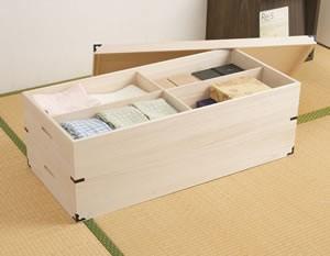 桐衣装箱 2段 深型 HI-0004 日本製 完成品【送料無料】