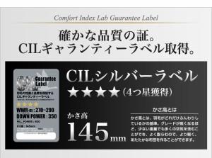 日本製 羽毛布団 シングル 掛けふとん 【CILシルバーラベル】 ホワイトダックダウン 羽毛のためのアレルGプラス 5年保証【送料無料】