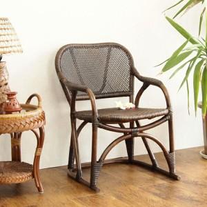 ラタン 手編み チェア 籐家具 インテリア イス 椅子 チェア 一人掛け 1人掛け パーソナル 籐 アジアン 和風(代引不可)【送料無料】