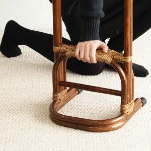 ラタン つかまり立ち HR(ブラウン) 家具 籐家具 ステッキ つかまり 立ち上がり 補助 介護 籐 和室 玄関 寝室 アジアン(代引不可)【送料無