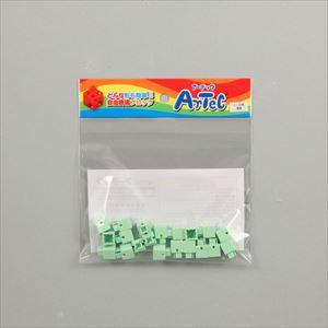 ARTECブロック ミニ四角 20P 薄緑 77831