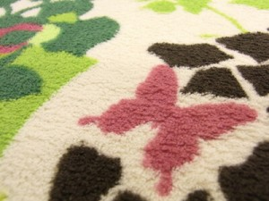 ラグ グリーン ホットカーペット 洗える デザインラグ【ハイド&シーク ラグ】 151101507 130×185cm グリーン(代引き不可)【送料無料】