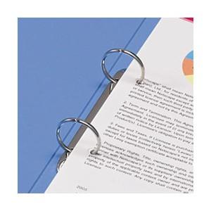 (まとめ) TANOSEE リングファイル(PP表紙) A4タテ 2穴 260枚収容 背幅42mm クリア 1セット(10冊) 【×2セット】