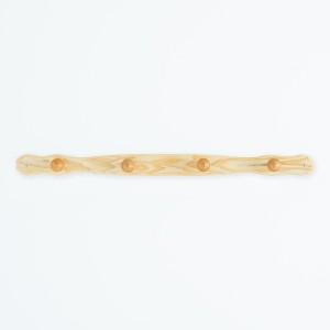 コートハンガー(端波型) (ナチュラル) 幅85×奥行6.5×高さ6cm [ハンガー掛け][壁掛け][収納][北欧][木製][ウッド][ナチュラル][省スペー