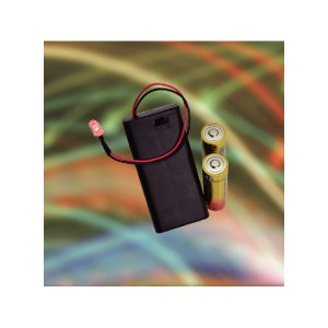 (まとめ買い) ELPA スイッチ&カバー付電池ボックス単3形*2本 LED付 UM-SC32NHLED 【×20セット】