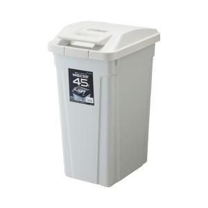 (まとめ) アスベル SPハンドル付ダストボックス 45L ホワイト 1個 【×2セット】