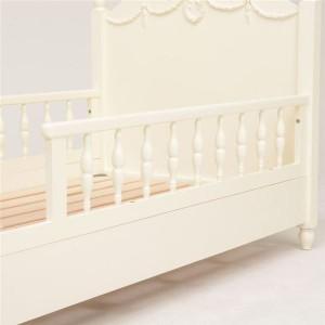 柵付きベッド 【セミシングルショートサイズ】 木製/マホガニー 姫系 RB-1854WH ホワイト(白)【代引不可】