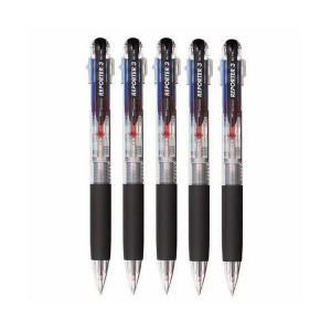 (まとめ) トンボ鉛筆 3色油性ボールペン リポーター3 0.7mm (軸色 透明) 業務用パック BC-TRC205P 1箱(5本) 【×4セット】