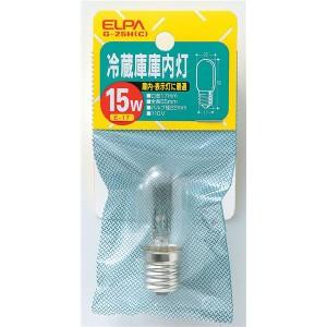 (まとめ買い) ELPA 冷蔵庫庫内灯 15W E17 クリア G-25H(C) 【×40セット】