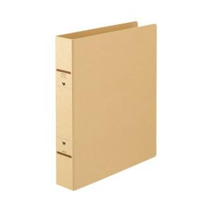 (まとめ) TANOSEE Oリングファイル(紙表紙) A4タテ 2穴 320枚収容 背幅52mm クラフト 1セット(10冊) 【×2セット】