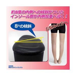 (まとめ)昭光プラスチック製品 O脚対策 美脚クロスバンドサンダル M 8099921【×2セット】