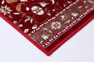 廊下敷 モケット織り 王朝柄 オーク ベージュ 67×120cm 滑りにくい加工(代引不可)【送料無料】