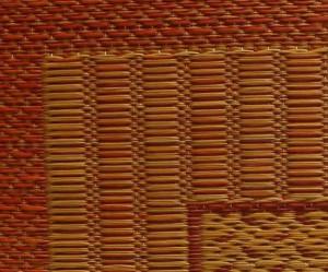 純国産 袋織 千鳥い草座布団 『ランクス 5枚組』 ベージュ 約55×55cm×5P(代引不可)【送料無料】
