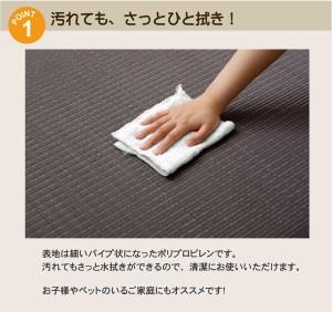 水拭きできる ポリプロピレン ユニット畳 『スカッシュ』 グリーン 82×82×1.7cm(6枚1セット) 軽量タイプ(代引不可)【送料無料】