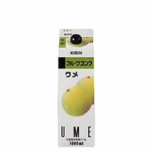 キリン フルーツコンク ウメ 1000ml(1L)×6本(代引き不可)【送料無料】