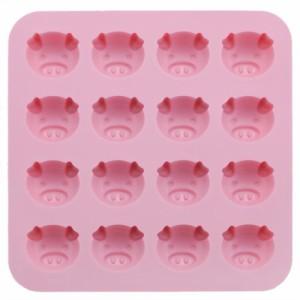 シリコン製菓用品 チョコレートモールド こぶたピンク 川嶋工業