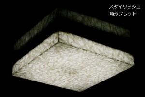 シーリングライト(照明器具) LEDタイプ/4000ルーメン 自然光色 四角型フラット 〔リビング照明/ダイニング照明/和室/玄関〕【代引不可】