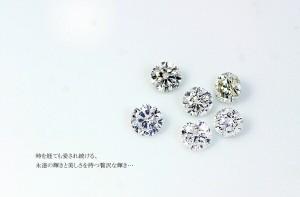 Dカラー・VVS2・EX Pt0.3ct ダイヤリング 両側ダイヤモンド(鑑定書付き) 16号